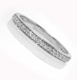 1/2 alliance or blanc et diamants Réf. 1203