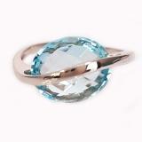 Bague Topaze bleue en or blanc 18 carats Réf. 780