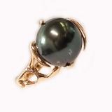 Bague perle de Tahiti or jaune Réf. 659
