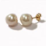 Boucles d'oreilles perles or jaune réf. 1265