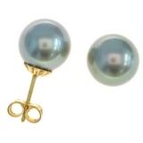 Boucles perles de Tahiti or jaune Réf. 52