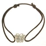 Bracelet cordon papillon or blanc réf. 847