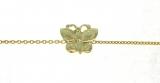 Bracelet papillon or jaune réf. 816