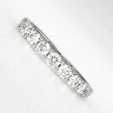 Demi alliance diamants griffes or blanc réf. 1185