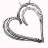Pendentif Coeur diamants or blanc réf. 547