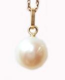 Pendentif perle or jaune Réf. 837