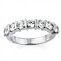 "Demi alliance barettes diamants or blanc ""Hestia""  Réf : 669"